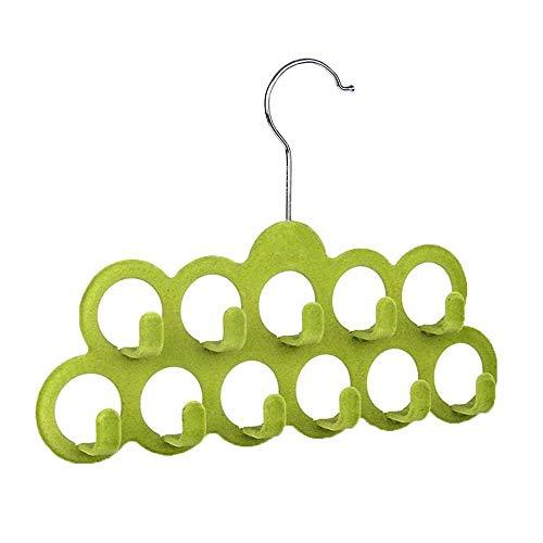 iloving Heißer Multifunktionale Schal Aufhänger Mit 11 Haken In Beflockung, Zufällige Farbe
