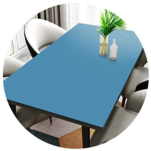 Manteles -Color Sólido Elegante Mesa Hogar Elástico De Silicona Tabla Mats Impermeable Ya Prueba De Aceite Desechable (Color : Blue, Size : 90 * 120cm)
