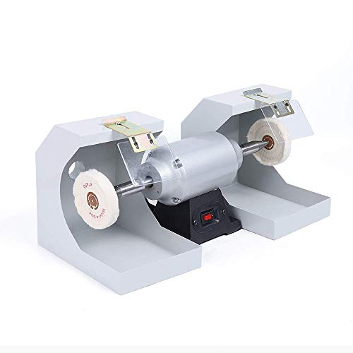 DONNGYZ Electric Lab Dual Polishing Machine Lathe Buffing Jewelry Grinder Suitable for Jewelry Polishing Casting 500W 3000RPM(US Stock)