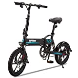 Gotrax Folding Electric Bike 16' - 15.5MPH & 27.9 Mile Range - 350W Motor Lightweight Commuter...