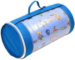 Barnsängmadrass babymadrass 60 x 120 cm rullmadrass för barn med resväska och TÜV, väska, överdrag 100 % bomull