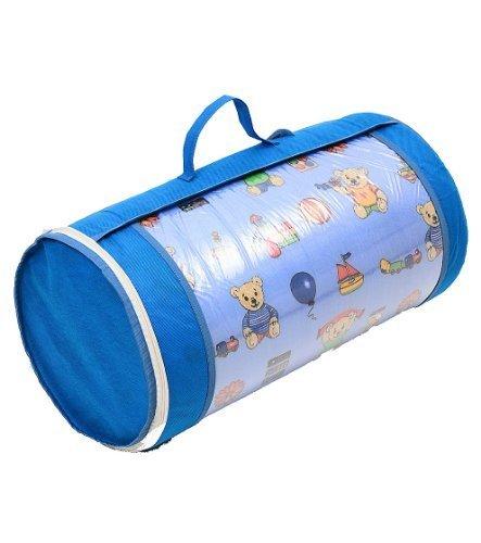 Kinderbettmatratze Babymatratze 60x120 cm Kinder Rollmatratze mit Reisetasche und TÜV, Tasche, Bezug 100% Baumwolle