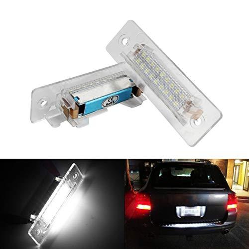 GOFORJUMP pour C/arrera 996 986 pour P/orsche 911 Carrera Blanc LED Lampe de Plaque d'immatriculation Lampe 2pcs