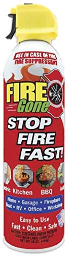 FireGone Fire Stopping Foam Spray for Class A, B, and C Fires - 16oz. Canister