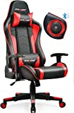 GTRACING Gaming Chair with Bluetooth Speakers Music Video Game Chair Audio【Patented Design】 Heavy Duty Ergonomic Office Computer Desk Chair GT890M Red