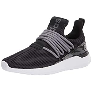 adidas Men's Lite Racer Adapt 3.0 Running Shoe, Black/Black/Grey, 12