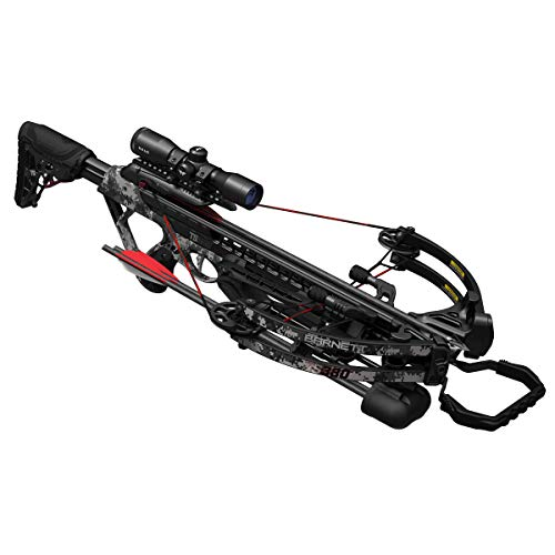 Barnett Archery TS380 Crossbow | Elite Crossbow with Enhanced Safety Features, Scope, Arrows & Quiver, Digital Gray