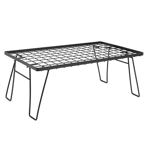 Sencillo de configurar, diseño de rejilla portátil, mini mesa para acampar, mesa de barbacoa, para picnic, para acampar, para ir de excursión