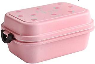 Bento 2 niveles de compartimento Diseño Contenedores de alimentos para el almuerzo y snackSeeksproof Friendly Friendly Ben...