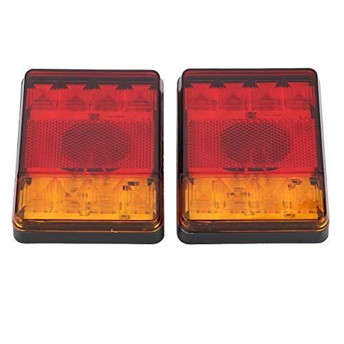 Luz trasera, luz trasera universal señal de giro luces de estacionamiento luces ámbar LED luz trasera universal luz trasera impermeable LED ámbar colores duales IP65 repuesto para camiones