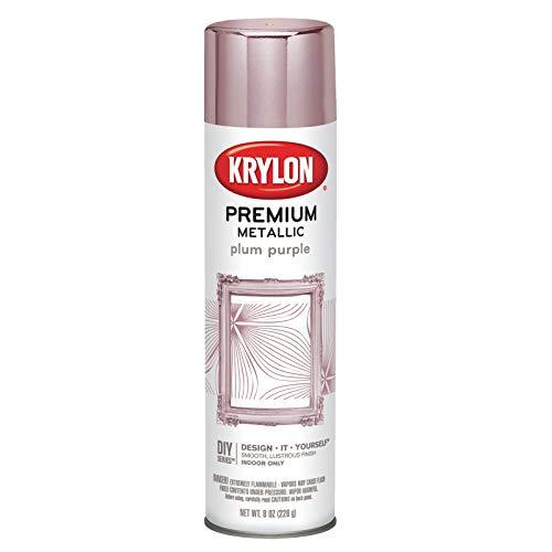Krylon K01200000 Premium Metallic Aerosol Paint, 8 oz, Plum Purple, 6 1