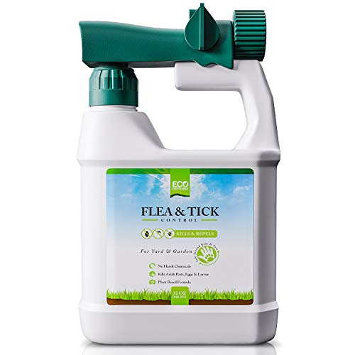 Eco Defense Flea, Tick, and Mosquito Spray for Yard and Perimeter - Safe Around Kids, Pets, Plants -...