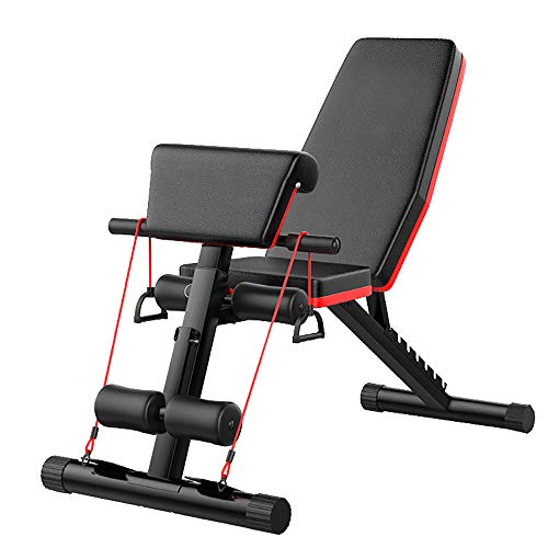 AB Abdominal Workout Folding Exercise Weight Bench Equipment, Multi-functional Adjustable Supine Bench Sit Up Slim Body Equipment Machine, Decline Incline Extension Bench for Home Gym Strength Training Equipment