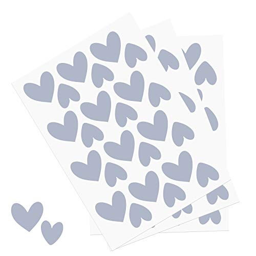 Y014 hartjesset muurtattoo stickers hart decoratie sticker voor kinderkamer babykamer blauw