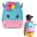 NOHOO Kleinkinderrucksack Kinderrucksack, süße Tierschultasche Wasserdichter Zoo Rucksack für Jungen und Mädchen im Alter von 2 bis 6 Jahren (Einhorn)