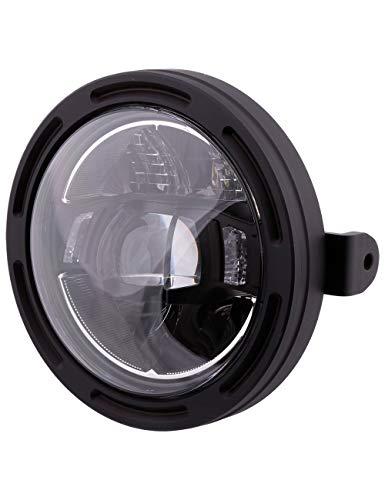 HIGHSIDER 5 3/4 Zoll Motorrad LED Scheinwerfer Frame-R2 Typ 10, E-geprüft (seitliche Befestigung)