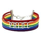 Innersetting Pulseras para mujeres y niñas, pulsera de arco iris, tamaño ajustable, cadena de joyería GAY LGBT Pride (A), Día de Acción de Gracias, para estudiantes, pulsera personalizada para niñas.