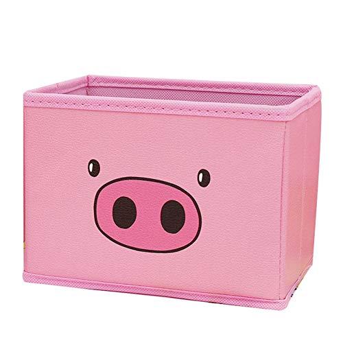 Schreibtisch Organisator Cute Pig-Aufbewahrungsbehälter Bleistifthalter Leder Bleistifthalter Desktop Office Schlafzimmer Multifunktionale Schreibwaren Schublade (Farbe : 4)