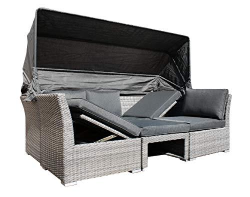 osoltus Strandkorb Cabrio Lounge Sofa Palma (3er, Grau)