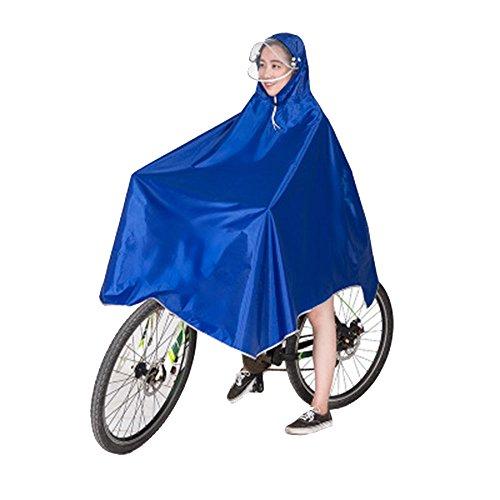 Vientiane Fahrrad Regenponcho, Tragbar Atmungsaktiv mit Kapuze, Regenmantel Wasserdicht, Regenbekleidung Fahrrad Regenschutz für Fahrradfahrer (Blau)
