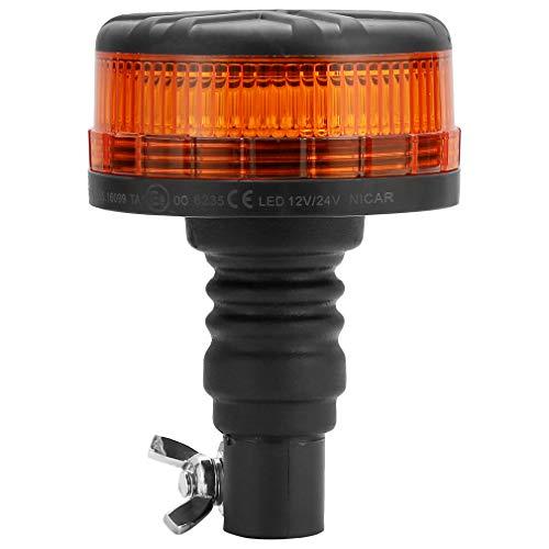 D-TECH 12/24V LED Warnlicht Stroboskoplicht Blinklichter Frontblitzer Rundumleuchte Amber Notlicht-Leuchtfeuer für LKWs Traktoren Gabelstapler