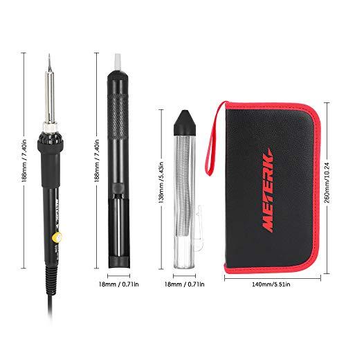 Fer à souder électronique, Meterk 14 en 1 Kit de Soudage 60W Température Réglable 200 ℃ ~ 450...
