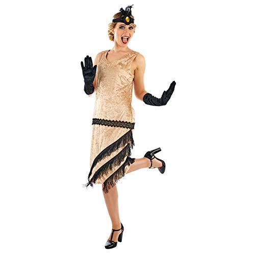 Fun Shack Oro Chica Flapper De Los Años 20 Disfraz para Mujeres - M