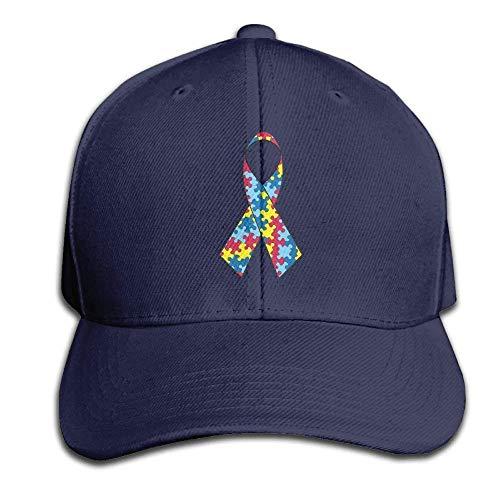 akingstore Autismus-Bewusstseins-Hysteresen-Sandwich-Kappen-Schwarze Baseballmütze-Hüte justierbare emporgeragte Fernlastfahrer-Kappe