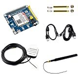4G / 3G / GNSS HAT Module for Raspberry Pi Zero/Zero W/Zero WH/2B/3B/3B+/4B/Jetson Nano, Based on SIM7600A-H, 4G Communication and GNSS Positioning Module Support LTE CAT4 up to 150Mbps