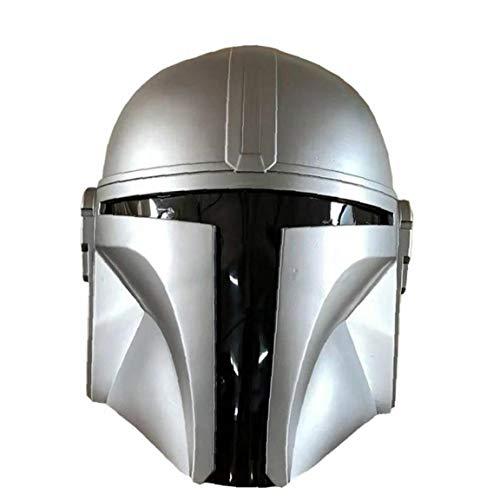 Mandalorian Mask Mandalorian Helm für Männer Frauen Star Wars PVC Full Face Leiter des Samurai Soldaten Cosplay Partei-Bounty-Maske