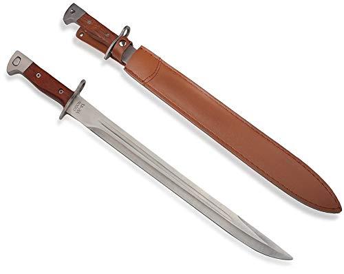 KOSxBO® AK47 Bajonett Messer - Langes Messer mit feststehender Klinge - Hunting Knife - Abfangmesser - Deko Waffe - Outdoor - Russisches Kampfmesser - großes Messer