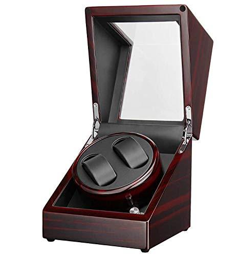 Preisvergleich Produktbild YYSDH 2020 Automatischer Uhrenbeweger Rotator Single Metall Matt Schwarz Und Ebenholz Klavier-Finish Doppel Mit Leisem Mabuchi-Motor 18 X 18 X 20 cm