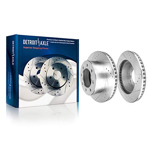 Detroit Axle - 13.03' (331mm) Drilled & Slotted FRONT Brake Rotors for 4WD Ford Excursion F-250 F-350 F-450 F-550 Super Duty
