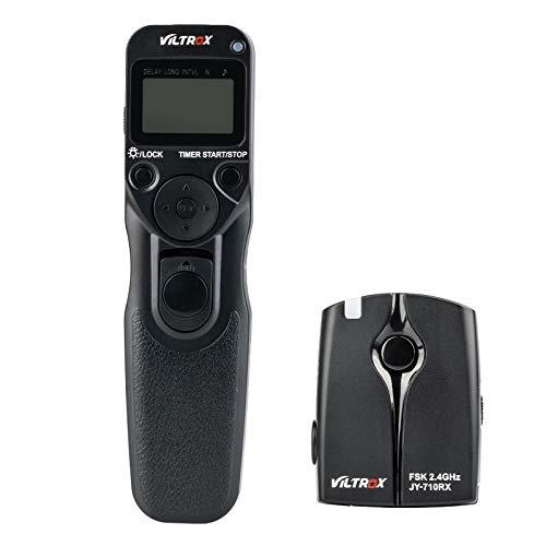 VILTROX FSK 2.4GHz Wireless Timer Shutter Release Camera Remote Control for Nikon D3200 D3300 D5300 D5500 D5600 D7200 D7500 D750 D90