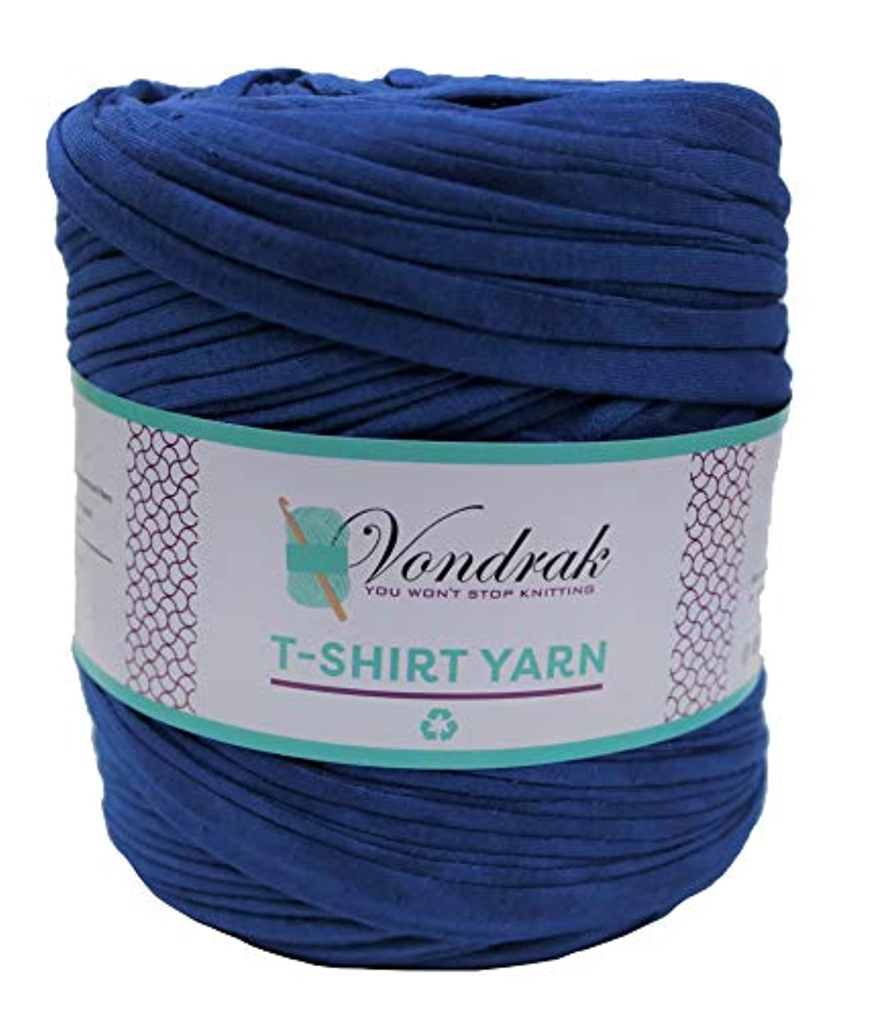 T-Shirt Yarn Recycled 130 Yards 1.5 lb Bulky Yarn│Jersey Yarn│Fabric Yarn │T Shirt Yarn for Crochet │ Knitting Tshirt Yarn │ Home Decor DYI Supply │ Recycled Yarn │Trapillo (Royal Blue)
