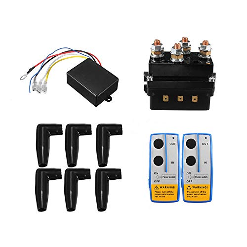 12V 500A HD Contactor Winch Control Solenoid Relay Twin Wireless Remote...