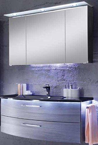 PELIPAL Solitaire 7005 Badmöbel Waschtisch 123,6 cm Waschtischunterschrank Spiegelschrank