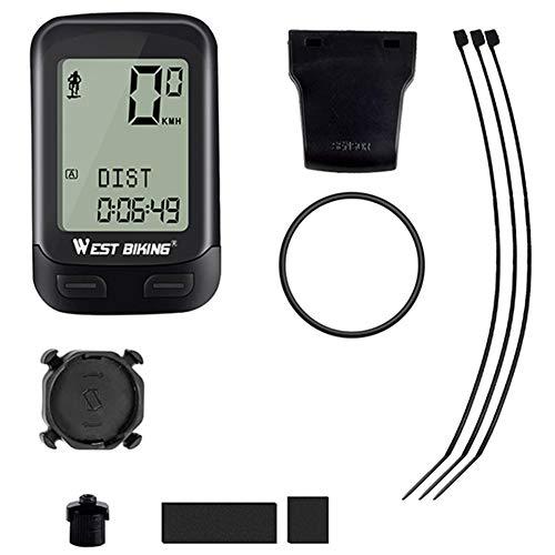 Hetangyuese Bicycle Code Table-bicycle Speedometer Computer Wireless Waterproof Bicycle Odometer Automatic Wake-up 22 Function Bicycle Computer