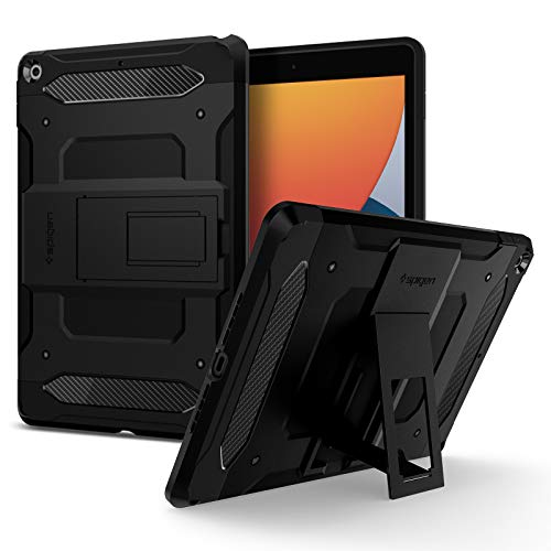Spigen Tough Armor TECH Designed For iPad 10.2 Case, iPad 8th Generation Case (2020) / iPad 7th Generation Case (2019) - Black