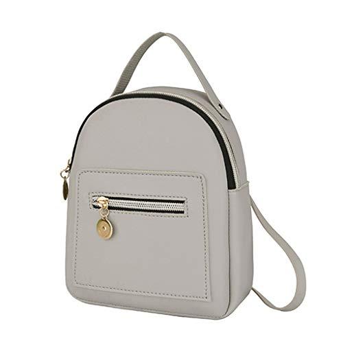 O'vinna Frauen Vintage Tasche Umhängetasche, Handtasche Schultern Kleiner Umhängetaschen Handtaschen, Damen Brusttaschen Handy Messenger Bag Sporttasche (Grau)