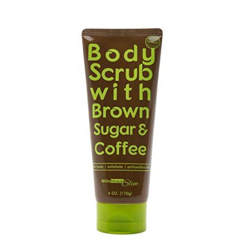 Biomiracle Body Slim Coffee and Brown Sugar Body Scrub   Stimulate Skin & Reduce Cellulite