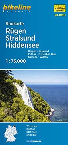 Radkarte Rügen Stralsund Hiddensee (RK-MV03): Bergen – Jasmund – Putbus – Ostseebad Binz – Sassnitz – Wittow, 1:75.000,wetterfest/reißfest, GPS-tauglich mit UTM-Netz (Bikeline Radkarte)