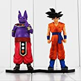 GYINK 2Pcs / Dragonball Z Battle of Gods Son Goku Beerus Action Figure 18Cm, Regalo per Bambini Bambole Collettive in PVC