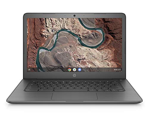HP Chromebook 14-db0002ng (14 Zoll / Full HD) Laptop (AMD A4-9120 APU, 4GB DDR4 RAM, 64GB eMMC, AMD Radeon R2, Chrome OS) chalkboard grey