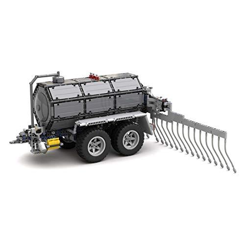 12che Technik Fahrzeug Kompatibel mit Lego Technik Gülleverteiler Baustein Modell Technik Lastwagen Bausteinmodell