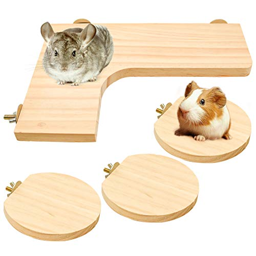 Black Water-Proof Moth-Proof Wooden House for Hamster Chinchilla Guinea Pig Rat Mouse etc