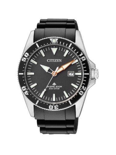 Citizen Herren Analog Quarz Uhr mit Kautschuk Armband BN0100-42E