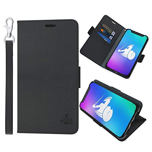 DefenderShield Samsung Galaxy S9 Plus Compatible EMF & 5G Protection Radiation Case - Detachable Magnetic Anti Radiation Shield & RFID Blocker Wallet Case w/Wrist Strap