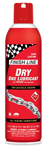Finish Line DRY Bike Lubricant with Teflon (17-Ounce Aerosol)