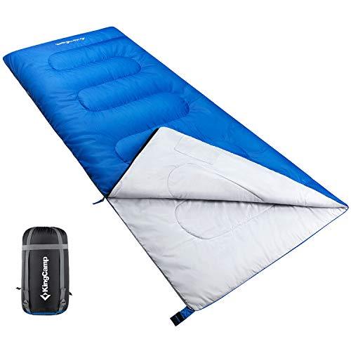 KingCamp All Season kühles Wetter Erwachsene Schlafsack Ultralight für Camping, Wandern, Rucksackreisen, Jungen Unisex Mädchen Damen, Left Zip
